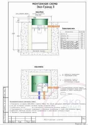 монтажная схема септика тополь 3